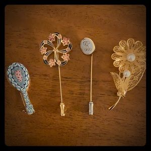 Vintage lapel pins and brooches